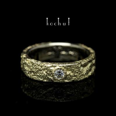 Каблучка «Душа і Тіло». Біле, жовте золото, діаманти