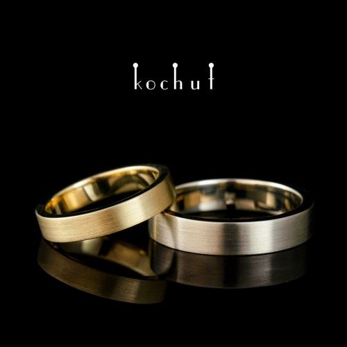 "Wedding Rings ""Aristocrats"". White and yellow gold"