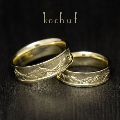 "Wedding rings ""Tops of Love"". Yellow gold"