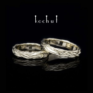 Wedding rings «Waves ofLove». White gold