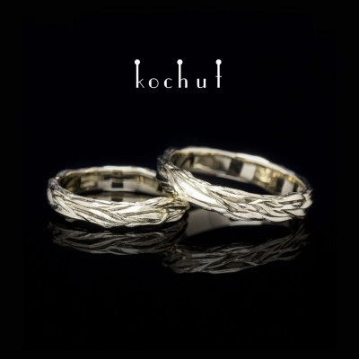 Wedding rings «Waves of Love». White gold