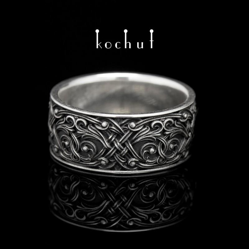 Prsten «Benátská noc». Stříbro, oxidace