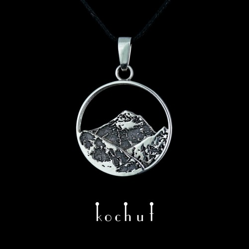 """The pendant """"Everest"""". Silver, oxidation"""
