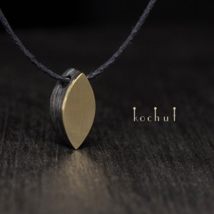 "The pendant ""Golden Leaf"". Silver, yellow gold"