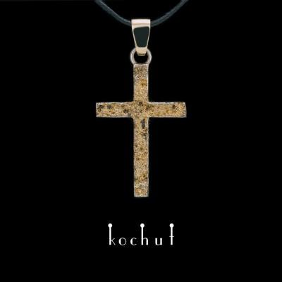 Anhänger-Kreuz «Leib und Seele» Sterlingsilber, Gelbgold