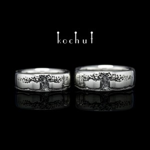 Wedding rings «Tree oflife» with infinity. Silver