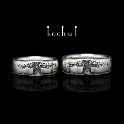 Обручальные кольца «Дерево жизни, бесконечность». Серебро