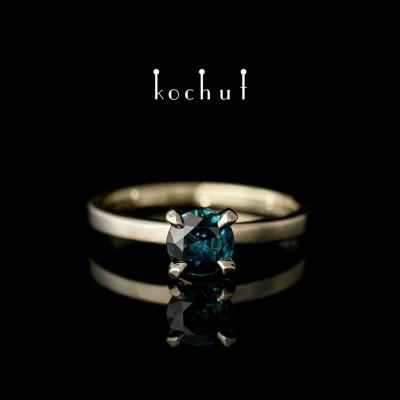 Prsten «Něžnost pocitů». Bílé zlato, safír
