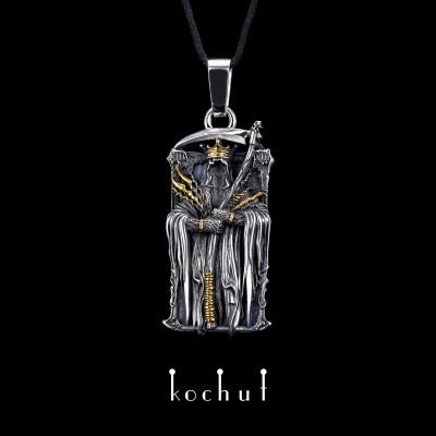 "Pendant ""Arkan. Reaper"". Silver, oxidation, gilding"