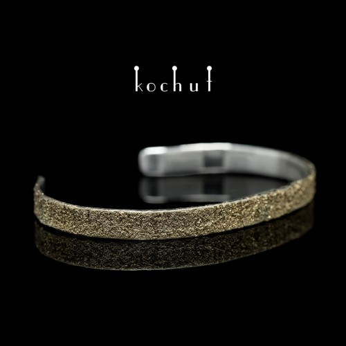"Bracelet ""Soul and body"" (one-piece). Silver, fusing of yellow gold"