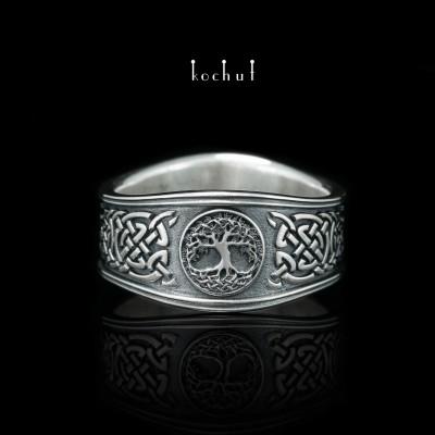 Кольцо с кельтской монограммой. Серебро, оксидирование