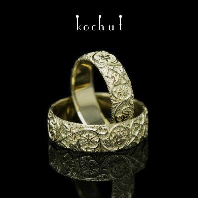 "Wedding rings ""Harmony of nature"". Yellow gold"