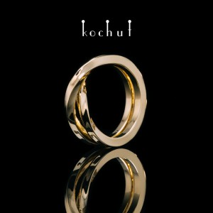 Ring «Moebius tape. The opposite.» Yellow gold