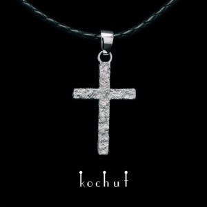 Cross «Soul and body.» Silver, fusion of white gold