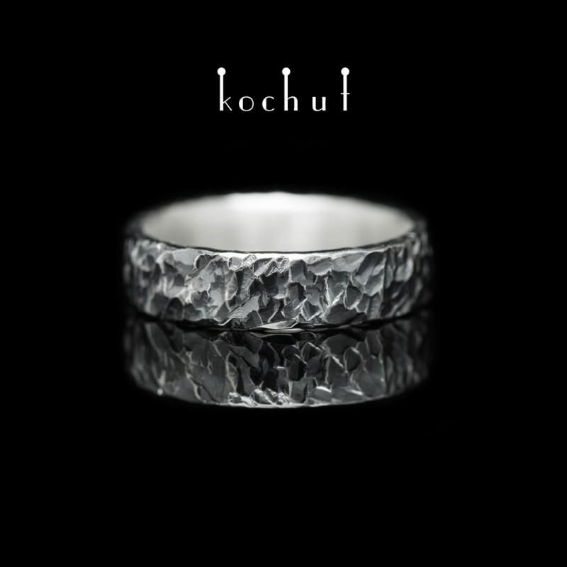 Prsten s kováním Intro. Stříbro, oxidace