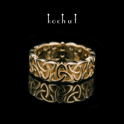 Ring «Celtic lace». Yellow gold