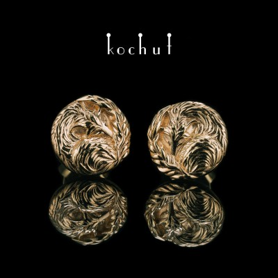 Earings «Little Foxes». Gold