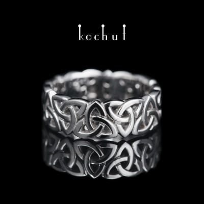 Ring «Celtic Knot». White gold, white rhodium