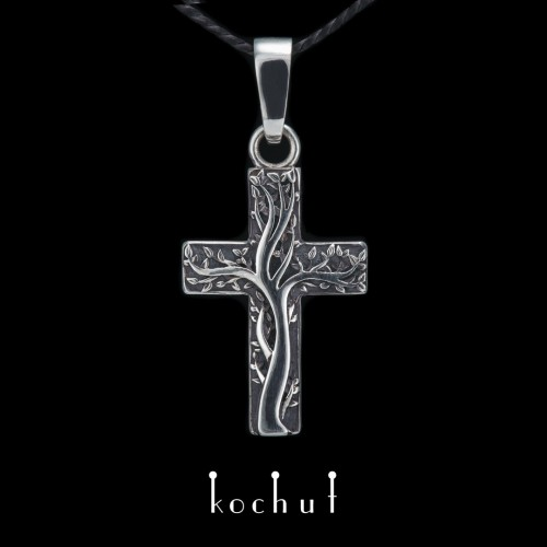 Cross «Roots offaith.» Silver, oxidation