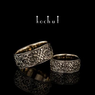 Wedding Rings «The Venetian Night». White gold, black rhodium