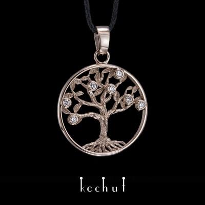 Кулон «Дерево життя». Паладієве золото, діаманти