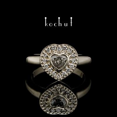 Помолвочное кольцо «Интуиция». Белое золото, бриллианты
