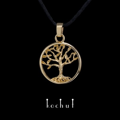 Pendant «Tree of Life, miniature». Yellow gold