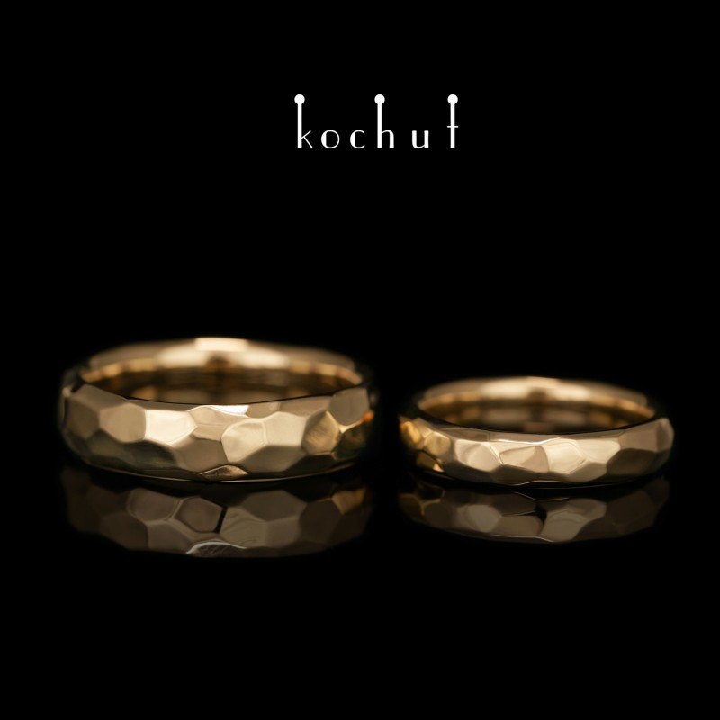 Wedding rings «Absolute». Yellow gold