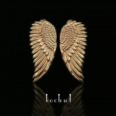 Earrings «Wings». Yellow gold