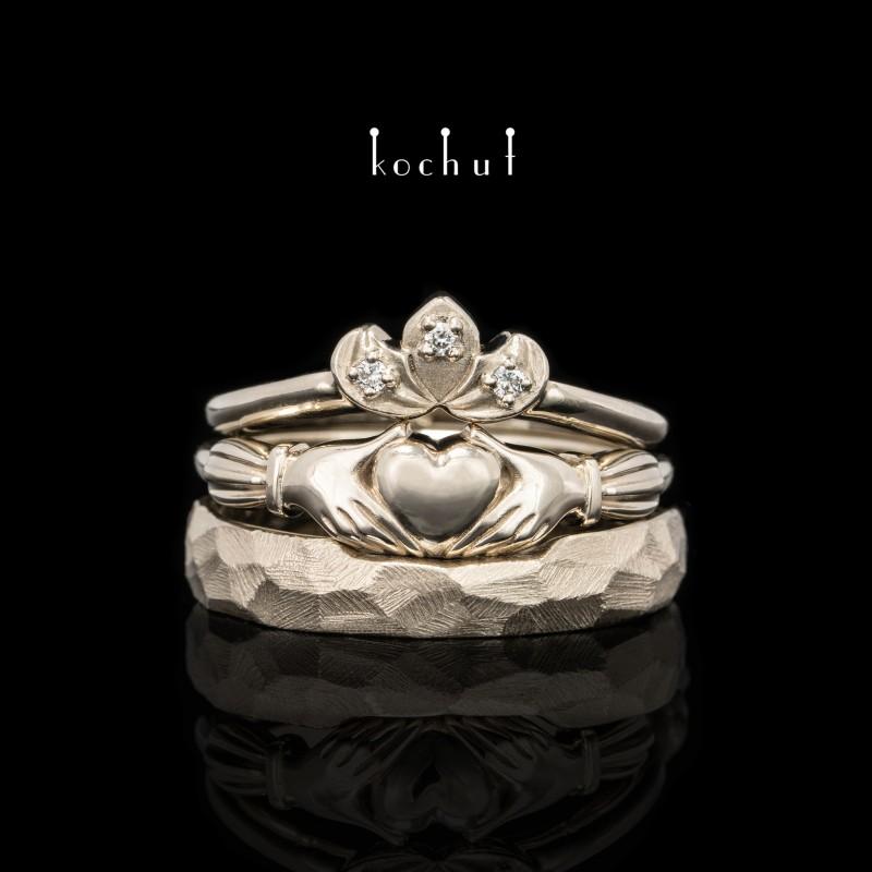 Комплект «Кладдахський». Біле золото, діаманти