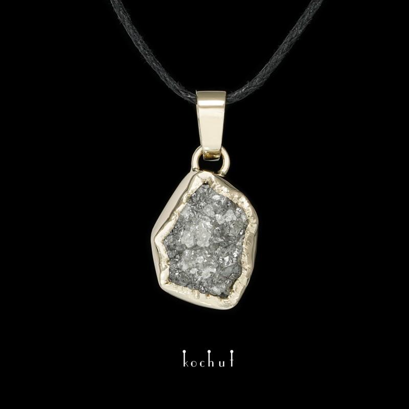 Кулон «Душа моя». Біле золото, алмаз