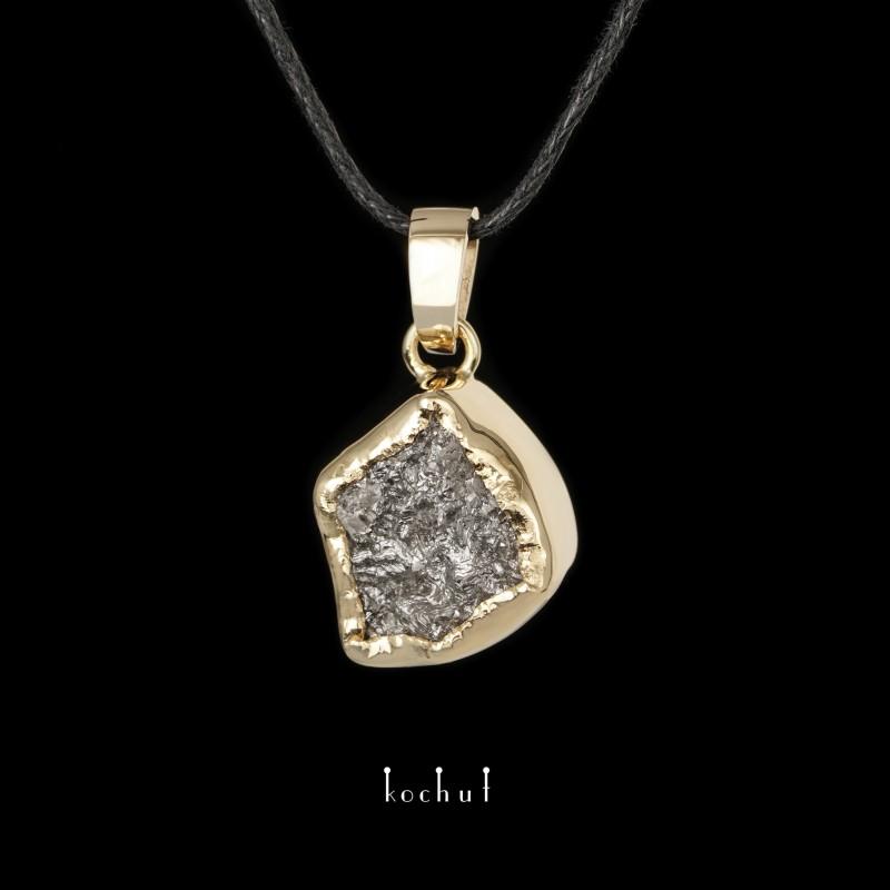 Кулон «Душа моя». Жовте золото, алмаз