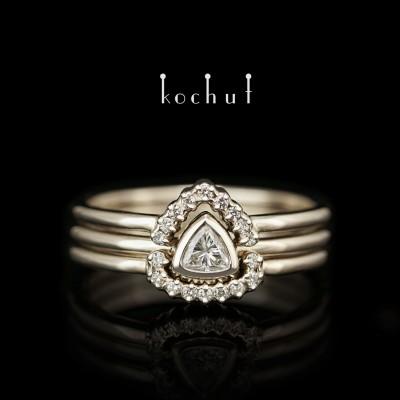 Помолвочное кольцо «Меридиана». Белое золото, бриллианты