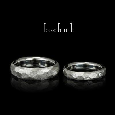 Обручальные кольца «Абсолют». Платина, бриллианты