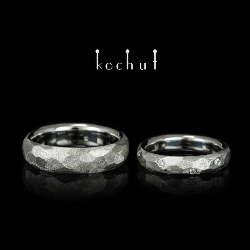 Wedding rings «Absolute». Platinum, diamonds