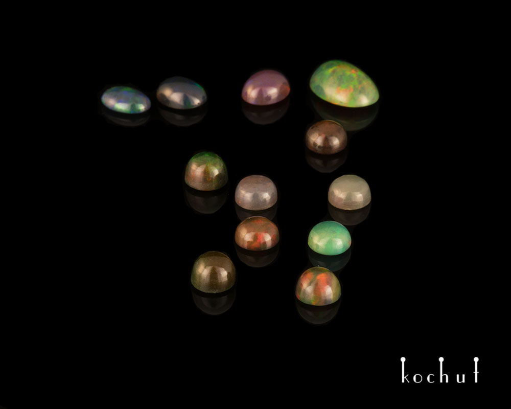 Opals of various colors